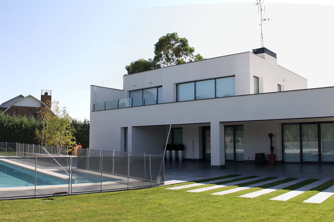 Foto de Construcción de chalet de diseño en Madrid