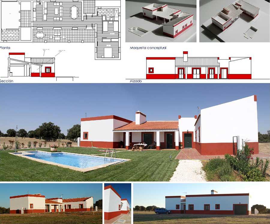 Foto de Construcción de casa unifamiliar en Madrid con profesionales