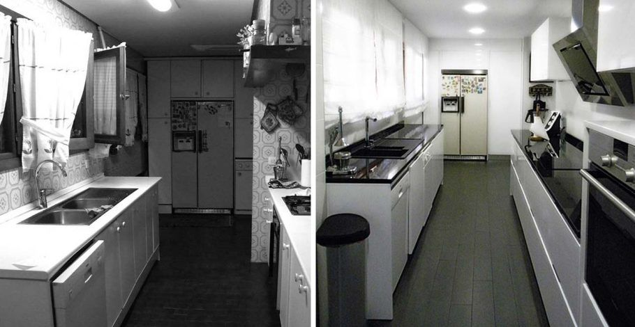 Foto de la cocina Antes y Después de la reforma