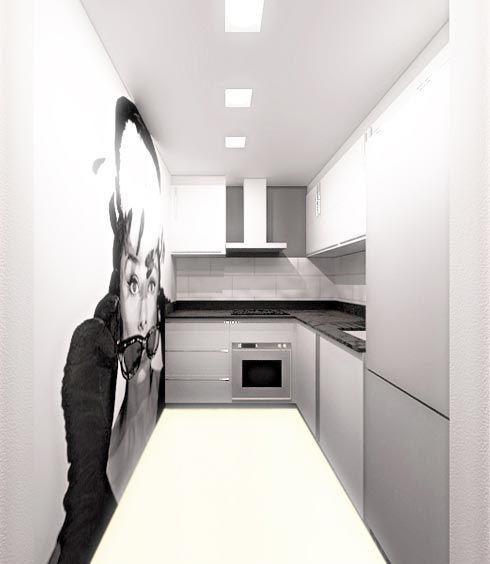Foto de Imagen virtual de la reforma de una cocina bien aprovechada