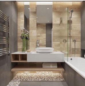 Foto de una Reforma de Baño con diseño y aprovechando espacios